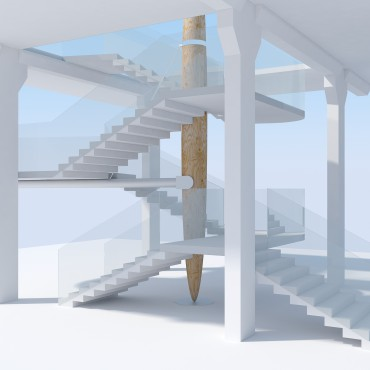Stairs design for the a big public space